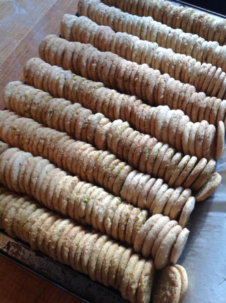 A double batch of sablés
